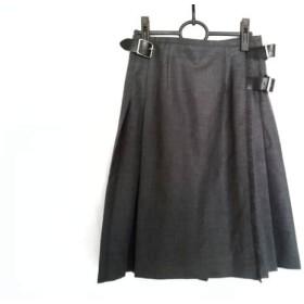 【中古】 オニール O'NEIL 巻きスカート サイズI40 M レディース 美品 グレー プリーツ