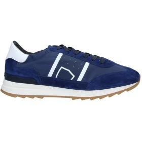 《期間限定 セール開催中》PHILIPPE MODEL メンズ スニーカー&テニスシューズ(ローカット) ブルー 42 革 / 紡績繊維