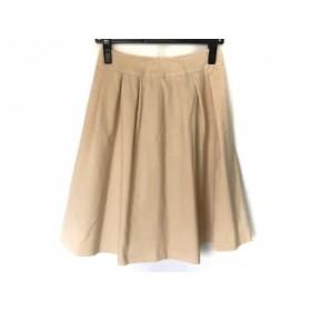 【中古】 ハロッズ HARRODS スカート サイズ1 S レディース ベージュ