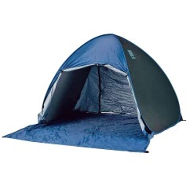 ポップアップテントフルクローズ ブルー テント アウトドア キャンプ