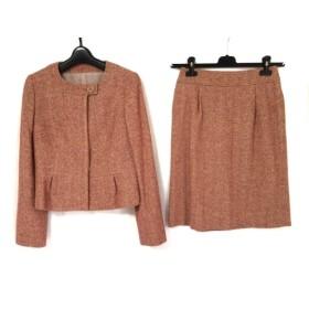 【中古】 オールドイングランド OLD ENGLAND スカートスーツ レディース 美品 ピンク アイボリー