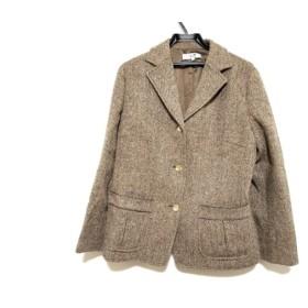 【中古】 ニジュウサンク 23区 ジャケット サイズ48 XL レディース ブラウン harris tweed