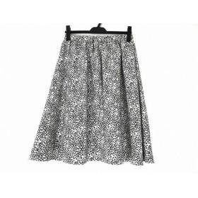 【中古】 ホコモモラ JOCOMOMOLA スカート サイズ40 XL レディース 美品 アイボリー 黒 de sybilla