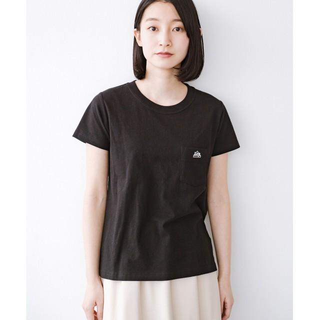 haco! Lady Lee ポケット付きコンパクトフィットTシャツ(ブラック)