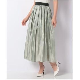 GIORDANOL [GIORDANO]オーロララメスカート(グリーン系)【返品不可商品】