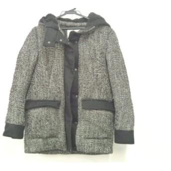 【中古】 スライ SLY ダウンコート サイズ2 M レディース 黒 白 春・秋物