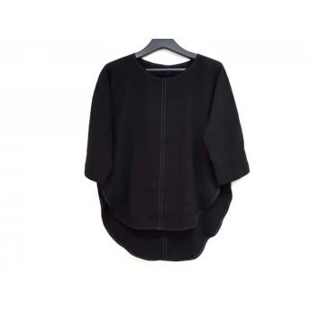 【中古】 プレインピープル PLAIN PEOPLE 七分袖カットソー サイズ2 M レディース 黒