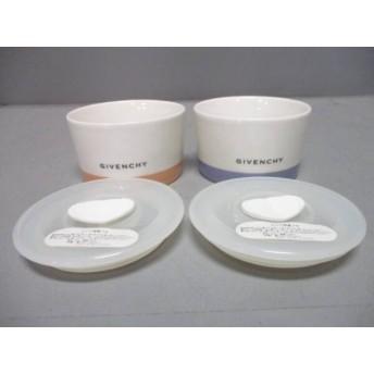 【中古】 ジバンシー GIVENCHY 食器 美品 白 ピンク マルチ レンジ容器 2/yamaka 陶器 プラスチック