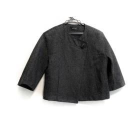 【中古】 デプレ DES PRES ジャケット サイズ1 S レディース 美品 黒 ボタンスルー/ラメ
