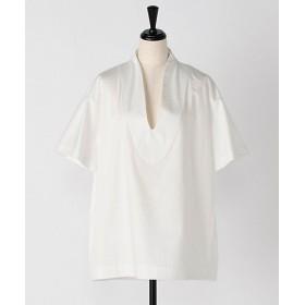 <IIROT> Cotton satin pull over White 【三越・伊勢丹/公式】