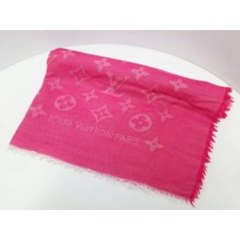 【中古】 ルイヴィトン LOUIS VUITTON ストール(ショール) 美品 ピンク ウール コットン シルク