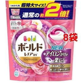 ボールド 洗濯洗剤 ジェルボール3Dプレミアムブロッサムの香り 詰め替え 超特大(34コ入8コセット)