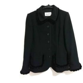 【中古】 ジュンアシダ JUN ASHIDA ジャケット サイズ9 M レディース 美品 黒 ミンクファー/肩パッド