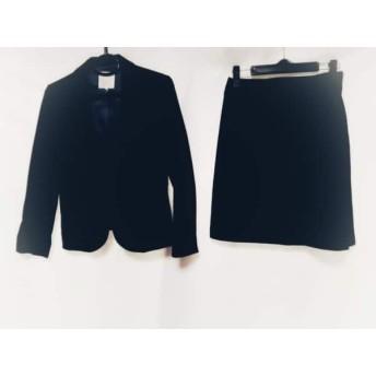 【中古】 クミキョク 組曲 KUMIKYOKU スカートスーツ サイズ2 M レディース 黒