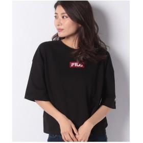 DAISY MERRY FILAボックス刺繍Tシャツ(ブラック)【返品不可商品】