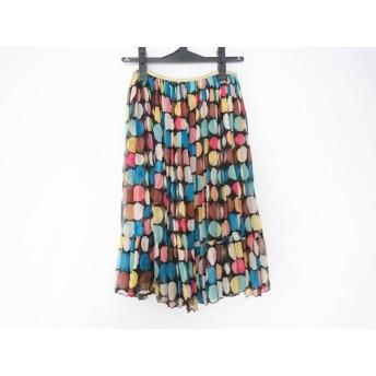 【中古】 ツモリチサト TSUMORI CHISATO スカート サイズ2 M レディース ブルー ダークブラウン マルチ