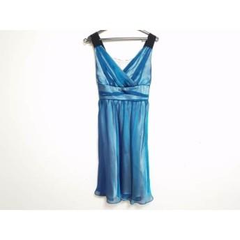 【中古】 セラヴィ CEST LAVIE ドレス サイズ9 M レディース ブルー 黒 シースルー