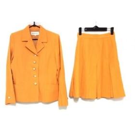 【中古】 イヴサンローラン YvesSaintLaurent スカートスーツ サイズ36 S レディース オレンジ 肩パッド