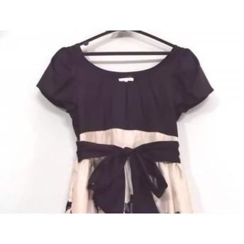 【中古】 レストローズ L'EST ROSE ドレス サイズMT レディース ピンク 黒 刺繍/レース