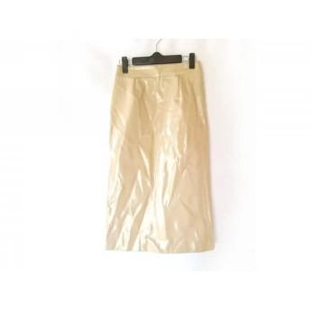 【中古】 ミラオーウェン Mila Owen ロングスカート サイズ0 XS レディース ベージュ フェイクレザー