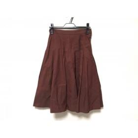 【中古】 マーガレットハウエル MargaretHowell スカート サイズ1 S レディース ブラウン プリーツ