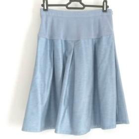 【中古】 レリアン Leilian スカート サイズ9 M レディース 美品 ブルー