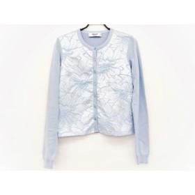 【中古】 ブルーガールブルマリン カーディガン サイズ40 M レディース 美品 ライトブルー 刺繍