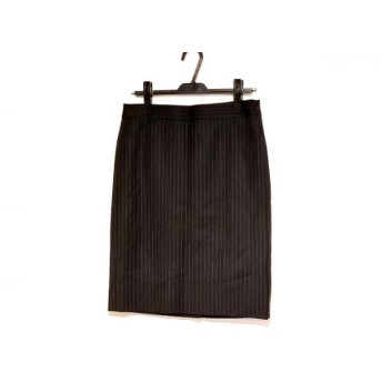 【中古】 セオリーリュクス theory luxe スカート サイズ40 M レディース 美品 黒 ストライプ