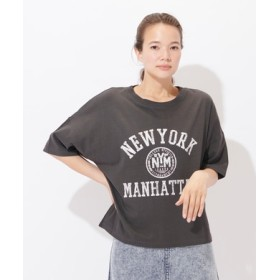 HONEYSUCKLE ROSE ロゴプリントTシャツ レディース ブラック