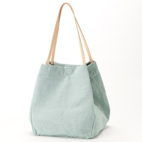 EARTH MADE LINEN LEATHER HANDLE トート