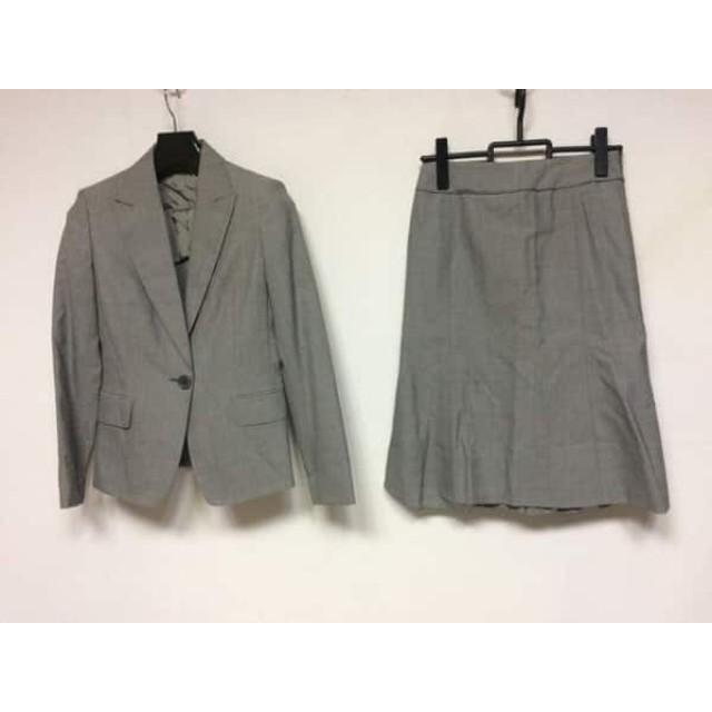 【中古】 コムサデモード COMME CA DU MODE スカートスーツ サイズ9 M レディース ライトグレー 肩パッド