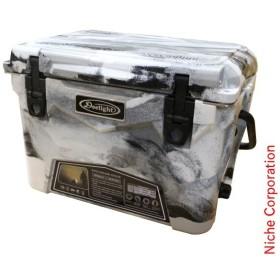 キャッシュレスポイント還元 Deelight(ディーライト) アイスランドクーラー 20QT グレー&ホワイトカモ  008131