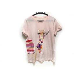 【中古】 ブルーム ストリート ケイトスペード 半袖Tシャツ サイズXS レディース ピンク マルチ