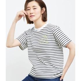 ロペピクニック/フルーツ刺繍Tシャツ/ブラック系/38