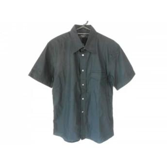 【中古】 エポカ EPOCA 半袖シャツ サイズ46 XL メンズ 黒
