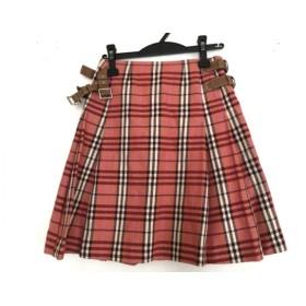 【中古】 バーバリーブルーレーベル スカート サイズ36 S レディース 美品 チェック柄/プリーツ