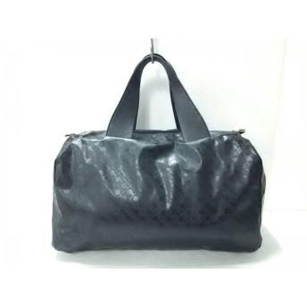【中古】 ゲラルディーニ GHERARDINI ボストンバッグ 美品 黒 PVC(塩化ビニール) レザー