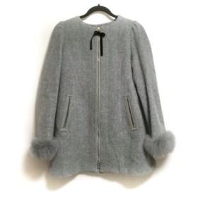 【中古】 ミニマム MINIMUM コート サイズ2 M レディース グレー 冬物/ファー
