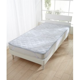 接触冷感 カジュアルプリント敷パッド(マリンアート柄) 敷きパッド・ベッドパッド