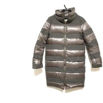 【中古】 ヘルノ HERNO ダウンコート サイズ42 M レディース ブラウン 冬物