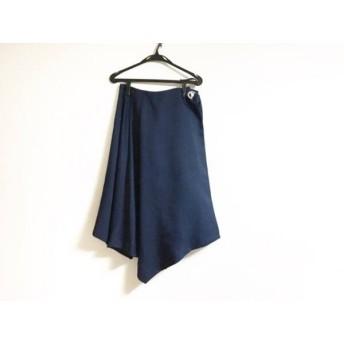 【中古】 チェスティ Chesty ロングスカート サイズ1 S レディース 美品 ダークネイビー 巻きスカート風