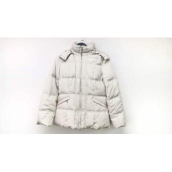 【中古】 ニジュウサンク 23区 ダウンジャケット サイズ38 M レディース アイボリー 冬物
