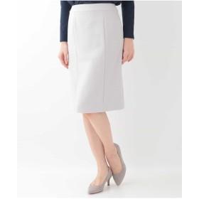 OFUON 【セットアップ可】ストレッチ切り替えスカート スーツ・セットアップ/スカート,ライトグレー