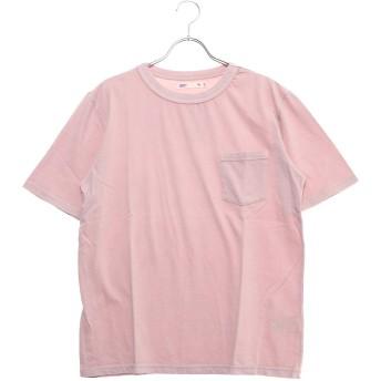 セブンデイズ サンデイ SEVENDAYS=SUNDAY outlet ピグメント天竺 ポケット付半袖プルオーバー (ピンク)