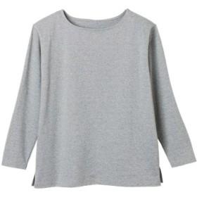 (Ranan/ラナン)綿100%カットソープルオーバー/レディース 杢グレー