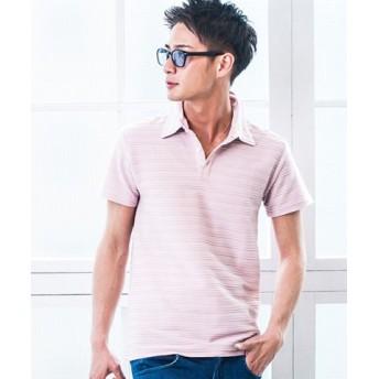 (SILVER BULLET/シルバーバレット)VICCI【ビッチ】タックジャガード半袖ポロシャツ/メンズ ピンク