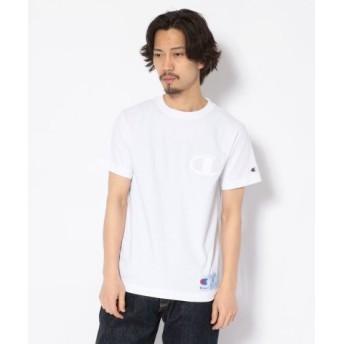 (RoyalFlash/ロイヤルフラッシュ)Champion/チャンピオン/アクションスタイル C 刺繍 Tシャツ/C3-M358/メンズ WHITE