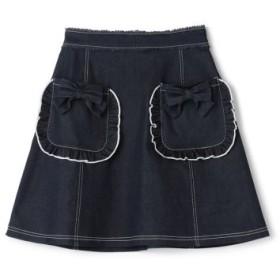 (LODISPOTTO/ロディスポット)ロマンティックデニムスカート/mille fille closet/レディース ネイビー 送料無料