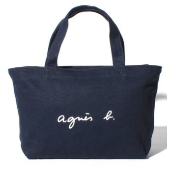 (agnes b. Voyage/アニエスベー ボヤージュ)GO03-02 ロゴトートバッグ/レディース ネイビー 送料無料