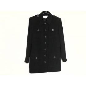 【中古】 イヴサンローラン YvesSaintLaurent コート サイズ36 S レディース 黒 肩パッド/春・秋物